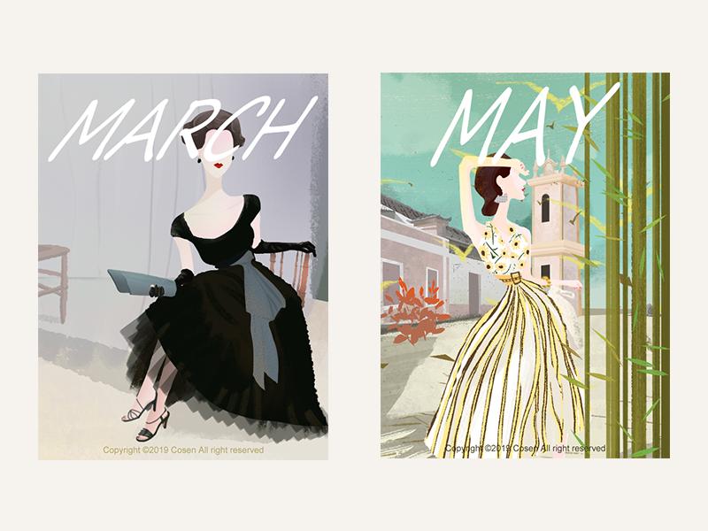 Elegant lady illustration
