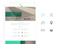Agrosign web design concept and icons
