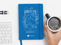 Moleskin notebook design 2016 - line art