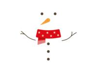 Snowman postcard 2017