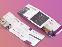 Click & Sign tri-fold square leaflet