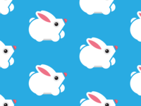 Cute geometric bunny pattern