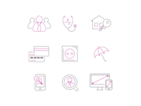 Click & Sign icon set
