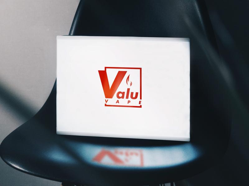 Vape e-commerce logo app vector logo alphabet illustration fresh colors minimal branding logo modern design
