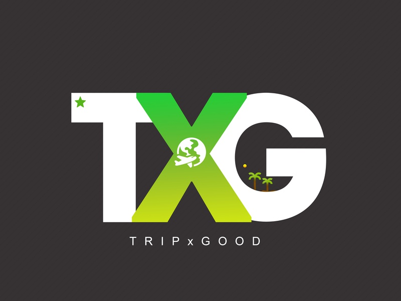 TxG Logo Creation travel green typography vector youtube minimal fresh colors branding logo modern design