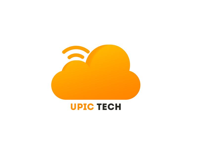 UPIC_Tech banner snapchat filter clean ads ux car logo app icon brush vector logo alphabet youtube illustration minimal typography fresh colors branding logo modern design