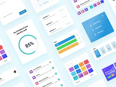 UI kit Management Your Project App uxd ui design design uidesign uikit ui