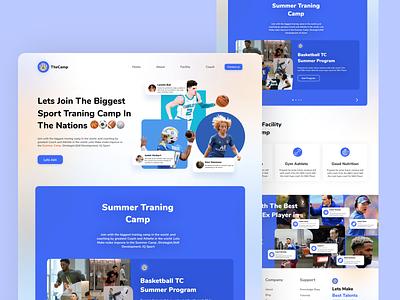Landing Page Sport Summer Camp Vers 1 basketball traningcamp coach uidesign website soccer psg nfl nba sport design ux ui landing page