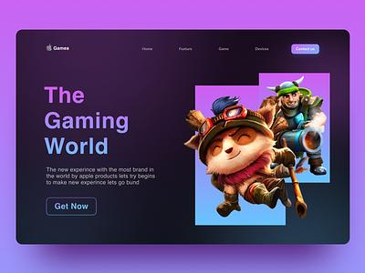 Landing page Hero section  apple Games fornite valorant web web design landing page hero games game apple typography illustration branding app design ux ui