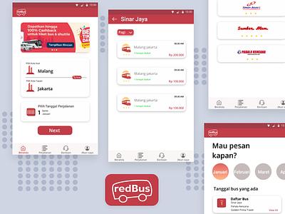 Redesign App Redbus process redesign transport design vector icon ux ui