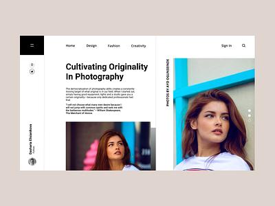 Landing Page #3 design photography modeling model web app branding ux ui