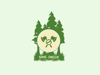 Save Green Logo | Custom Logo