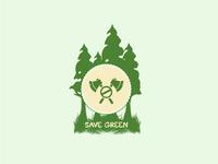 Save Green Logo | Custom Logo