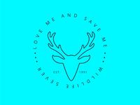 Save Deer Logo | Minimalist Logo
