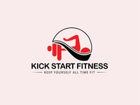 Kick Start Fitness Logo | Custom Logo