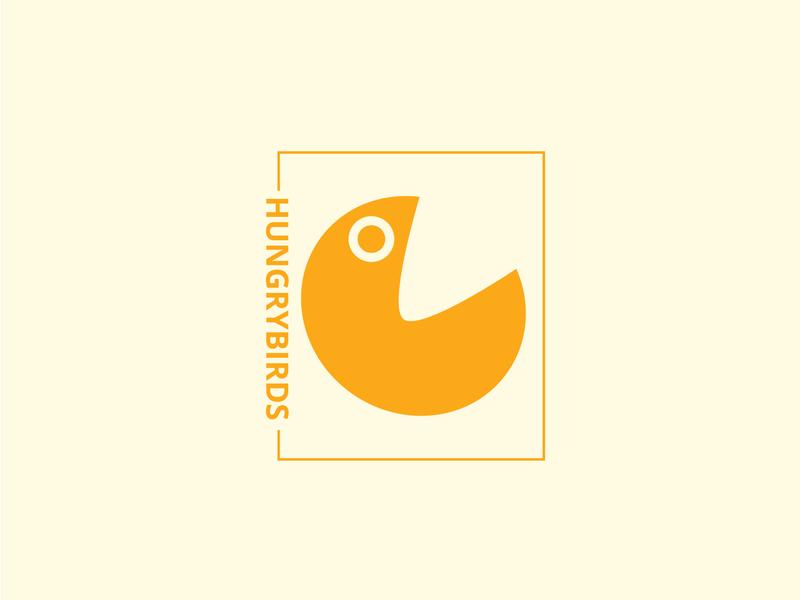 Hungry Birds Logo | Minimal Logo identity icons icon flat brand illustrator vector ai modern logo professional logo eye catching logo design design graphic illustration minimal logo custom logo logo