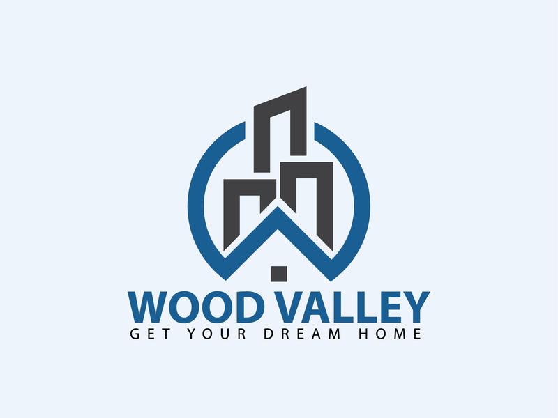 Wood valley Logo   Custom logo identity icons icon flat brand illustrator vector ai modern logo professional logo eye catching logo design design graphic illustration minimal logo custom logo logo