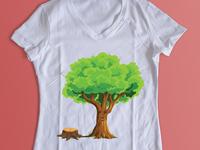 Save tree T-shirt | Custom t-shirt