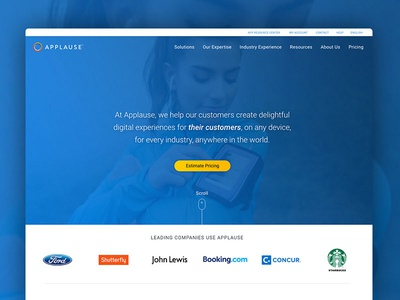 Applause Homepage Redesign