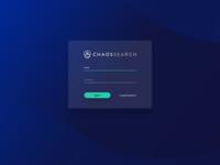 CHAOSSEARCH - Login Screen