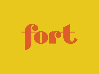 Fort Logotype logotype design custom typography 80s typography logo designs logotype