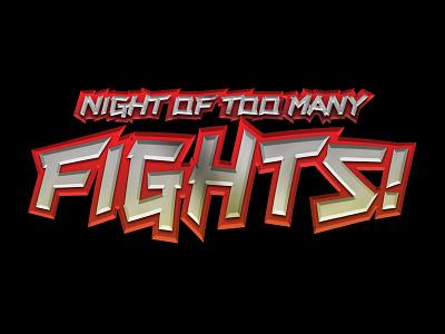 Night of Too Many Fights logo design identity logos comic logos