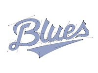 Blues Wordmark Handles