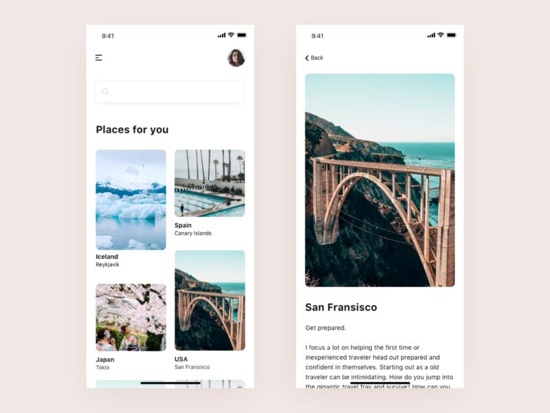 Travelapp design city travel app travel