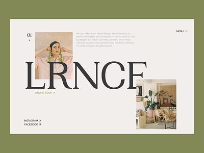 LRNCE — Design Concept blog art menu bar menu ui ux mainpage e-commerce design ux design ui design