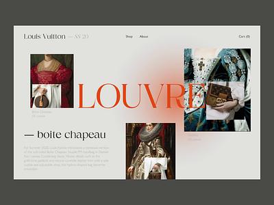 Louis Vuitton — Design Concept fashion ux ui mainpage e-commerce design art animation ux design ui design