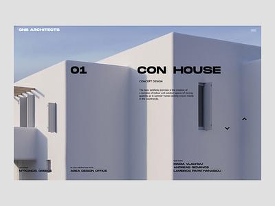 Architects Studio Design Concept architect casestudy case portfolio pagination architecture logo ux ui mainpage design ux design ui design