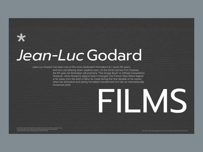 Godard Films – Site Concept swiss design typogaphy cinema festival ux ui animation design ux design ui design