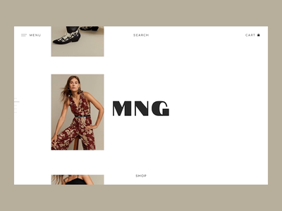 Mango Redesign Concept fashion e-commerce animation ux design ui design