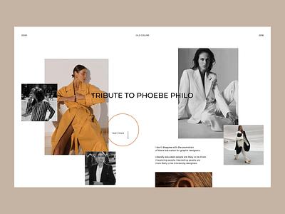 Celine - Fashion Cite Concept clothing brand inspiration ux ui style fashion e-comerce animation