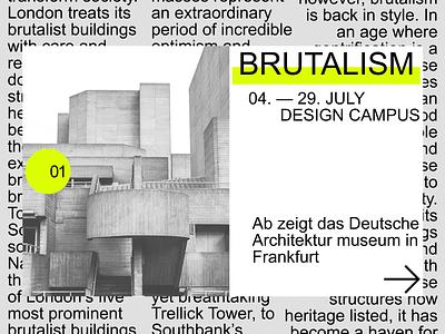 Brutalist Architecture Site Concept modern mainpage brutalism architecture design art ui design