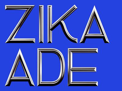 Zikade Headline 3d illustration freefont free font geometric mühlfeld leo headline zikade text dimension chrome mirror typohraphy