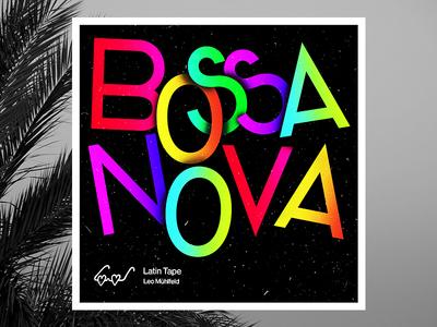 Bossa Nova south beach palm samba texture grain noise headline gradient bossa nova cover cover art cover design