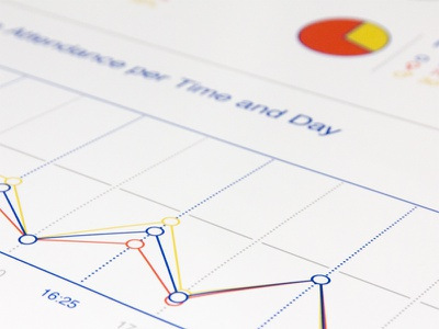 Offf Line Graph line graph chart infographic blue orange yellow bold line poster print offf barcelona