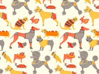 Animals In Clothes Pattern