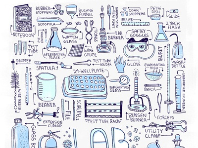 Lab Equipment Poster by Rachel Ignotofsky - Dribbble