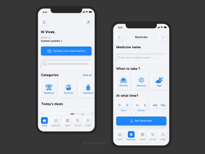 Pharmacy App UI Concept | Neumorphism UI Design Style ui user interface design light mode ios app design design user interaction ui ux ui design user interface app design neumorphism neumorphic pharmacy app