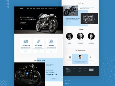 MotoV Landing Page Design Concept ui ux design website design web ui design concept design motorbike ui designer ux design landing page ui ui design web ui ui