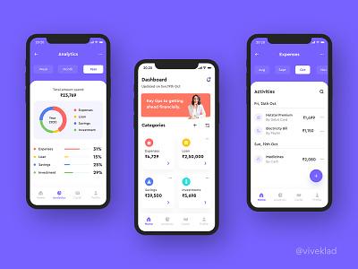 Vitt | Personal Finance Manager App adobe xd design finance app ui designer designer uiux design design user interface design user interface ui design uiux ui
