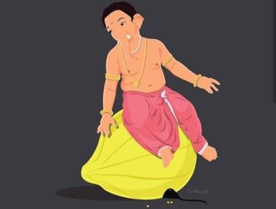 Lord Ganesha ganesha lord flat design vector design vector art adobe photoshop adobe illustrator graphic design art design digital art vector illustration