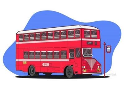 Mumbai's BEST Bus . bus mumbai india flat design adobe photoshop adobe illustrator illustration vector graphic design digital art art design
