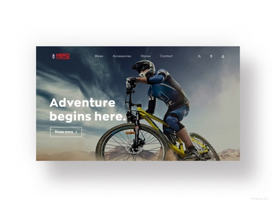 Hero Cycles homepage redesign concept. uiuxdesigner uiux website concept website design uikit adobexd userinterfacedesign userinterface uxdesigner uidesigner webdesign design ui  ux ui design ui