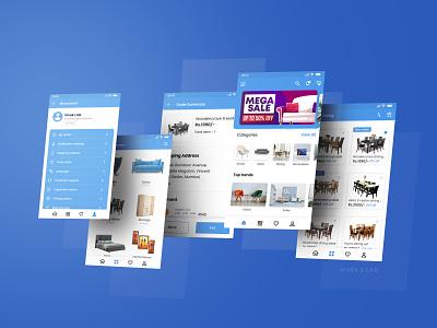 Furniture App Design mobile screens adobexd mobile app design user experience design user interface design user interface user experience uiux design uiux ux ui