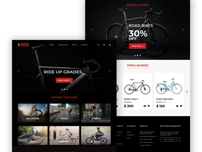Hero Cycles | Responsive Website Homepage Redesign adobe xd redesign user interface user experience ux design ui design design uiux ux ui