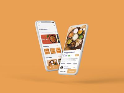 Food App Ui Concept app design food app food screen ui design interface design user experience user interface ux ui