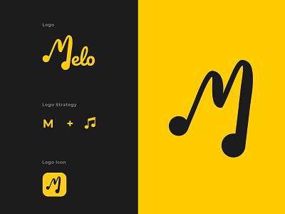 Melo Music App Logo Design branding logotype logo design adobe photoshop digital art art design logo graphic design vector